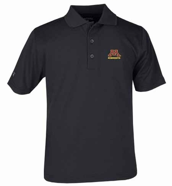 Minnesota YOUTH Unisex Pique Polo Shirt (Color: Black)