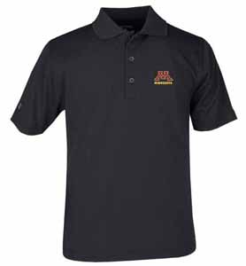 Minnesota YOUTH Unisex Pique Polo Shirt (Color: Black) - Large