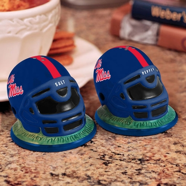 Mississippi Helmet Ceramic Salt and Pepper Shakers