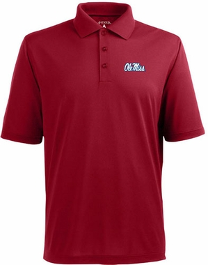 Mississippi Mens Pique Xtra Lite Polo Shirt (Color: Maroon)