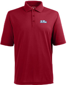 Mississippi Mens Pique Xtra Lite Polo Shirt (Color: Maroon) - Large