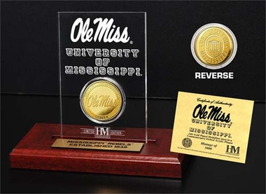 Ole Miss Rebels Ole Miss Rebels 24KT Gold Coin Etched Acrylic