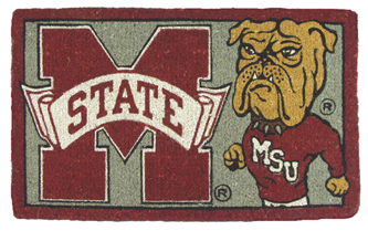 Mississippi State 18x30 Bleached Welcome Mat