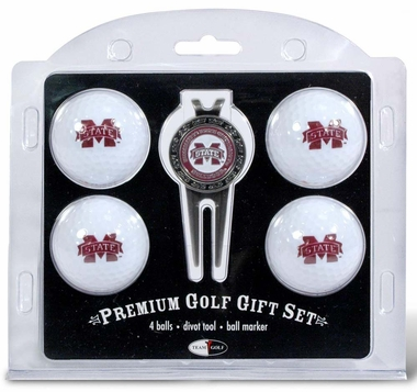 Mississippi State 4 Ball and Divot Tool Set