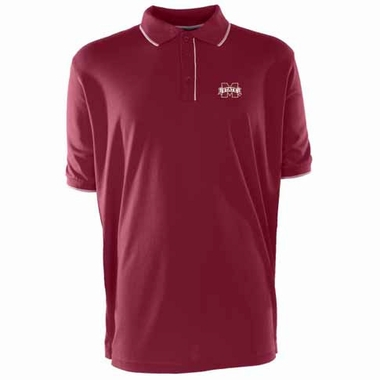 Mississippi State Mens Elite Polo Shirt (Color: Maroon)