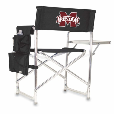 Mississippi State Embroidered Sports Chair (Black)