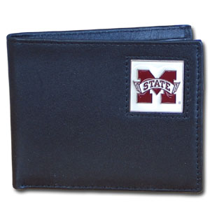 Mississippi State Leather Bifold Wallet (F)