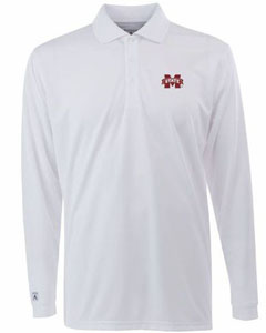 Mississippi State Mens Long Sleeve Polo Shirt (Color: White) - XXX-Large