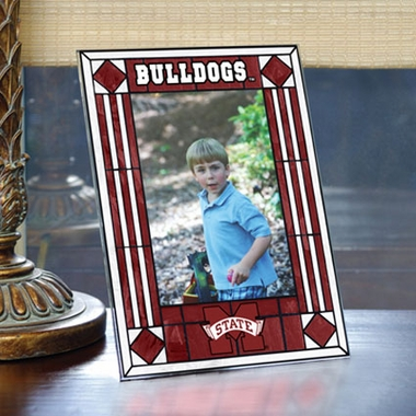 Mississippi State Portrait Art Glass Picture Frame