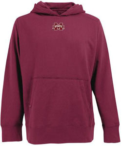 Mississippi State Mens Signature Hooded Sweatshirt (Color: Maroon) - Large