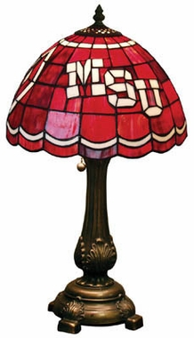 Mississippi State Stained Glass Table Lamp