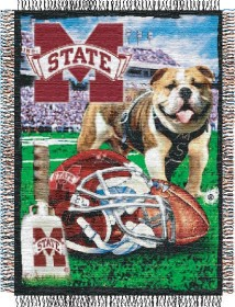 Mississippi State Woven Tapestry Throw Blanket