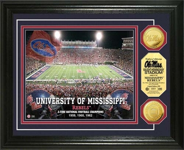 Ole Miss Rebels University of Mississippi Stadium Gold Coin Photo Mint