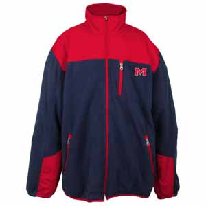 Mississippi YOUTH Dobby Full Zip Polar Fleece Jacket - Medium