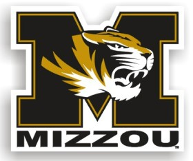 "Missouri Tigers 12"" Car Magnet"
