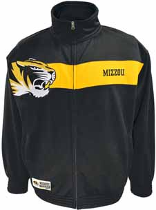 Missouri Victory March Full Zip Colorblocked Track Jacket - Medium