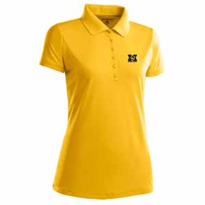 Missouri Womens Pique Xtra Lite Polo Shirt (Color: Gold) - Large