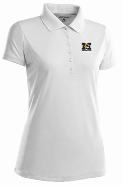 Missouri Womens Pique Xtra Lite Polo Shirt (Color: White)