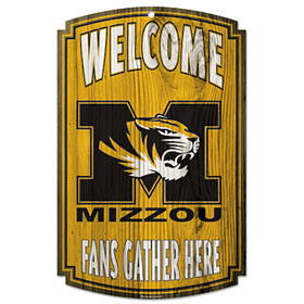 Missouri Tigers Wood Sign