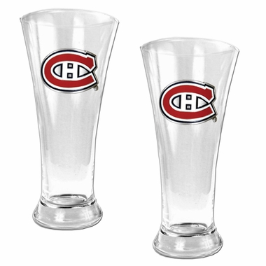 Montreal Canadiens 2 Piece Pilsner Glass Set