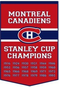 """Montreal Canadiens 24""""x36"""" Dynasty Wool Banner"""