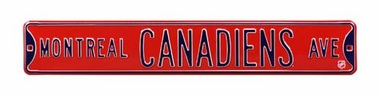 Montreal Canadiens Ave Street Sign