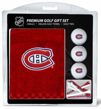 Montreal Canadiens Embroidered Towel Golf Gift Set