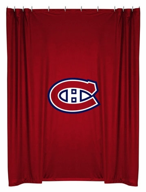 Montreal Canadiens Jersey Material Shower Curtain