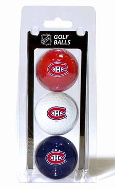 Montreal Canadiens Set of 3 Multicolor Golf Balls