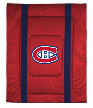 Montreal Canadiens SIDELINES Jersey Material Comforter