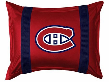 Montreal Canadiens SIDELINES Jersey Material Pillow Sham