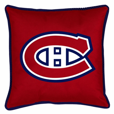 Montreal Canadiens SIDELINES Jersey Material Toss Pillow