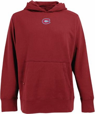 Montreal Canadiens Mens Signature Hooded Sweatshirt (Color: Red)