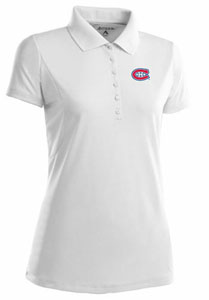 Montreal Canadiens Womens Pique Xtra Lite Polo Shirt (Color: White) - X-Large