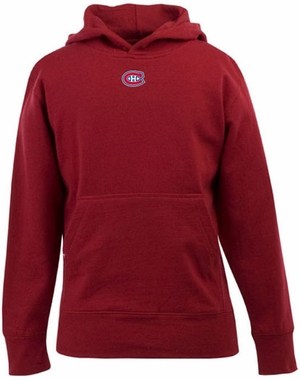 Montreal Canadiens YOUTH Boys Signature Hooded Sweatshirt (Color: Red)