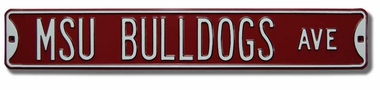 MSU Bulldogs Ave Street Sign