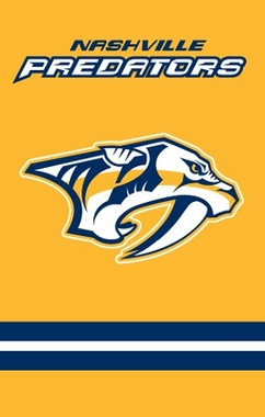 Nashville Predators Applique Banner Flag