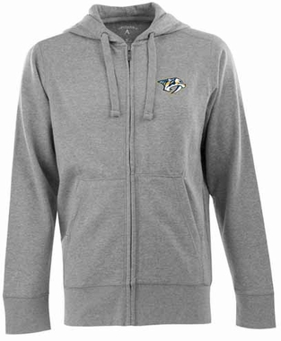 Nashville Predators Mens Signature Full Zip Hooded Sweatshirt (Color: Gray)