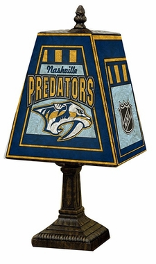 Nashville Predators Small Art Glass Lamp