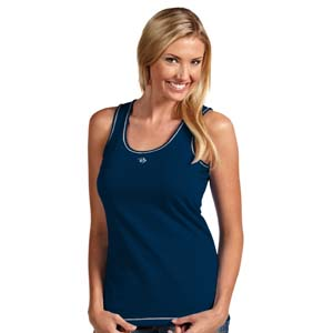Nashville Predators Womens Sport Fashion Tank Top (Color: Navy) - Small