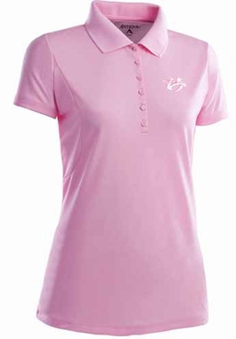 Nashville Predators Womens Pique Xtra Lite Polo Shirt (Color: Pink)