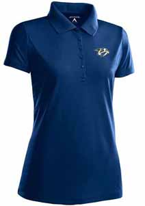 Nashville Predators Womens Pique Xtra Lite Polo Shirt (Color: Navy) - Medium