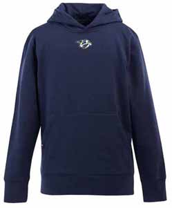 Nashville Predators YOUTH Boys Signature Hooded Sweatshirt (Color: Navy) - X-Large