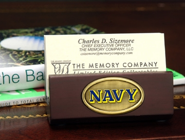 Navy Business Card Holder