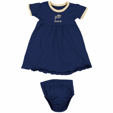 Navy Infant Girls Lola Dress w/ Bloomers