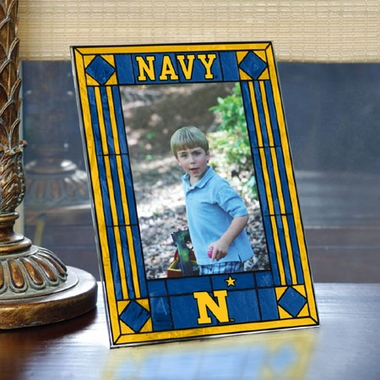 Navy Portrait Art Glass Picture Frame