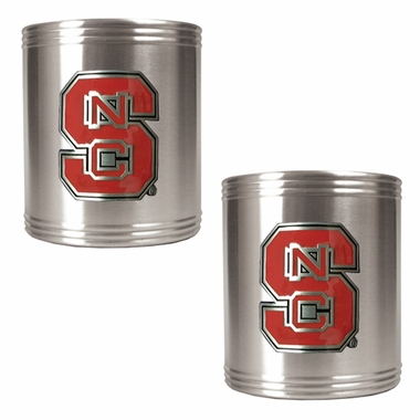 NC State 2 Can Holder Set