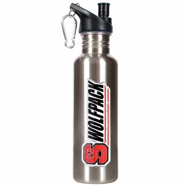 NC State 26oz Stainless Steel Water Bottle (Silver)