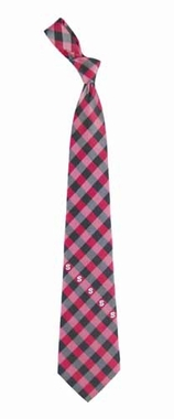 NC State Check Poly Necktie