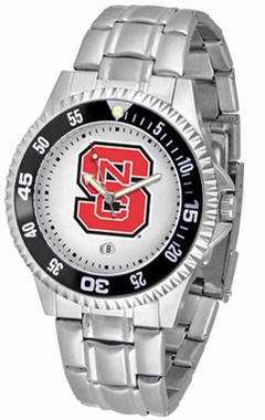 NC State Competitor Men's Steel Band Watch